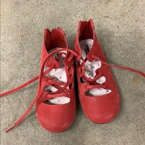 Worn once toddler girl shoes size 8